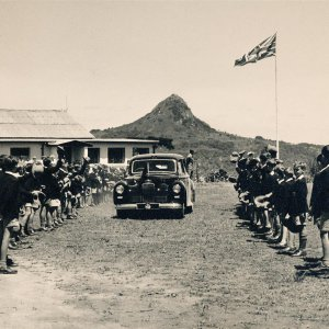 eagle school 1953 - the queen mothers visit 8