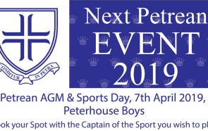 Next Petrean Event - 2019