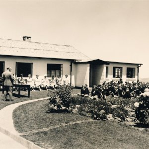 eagle school 1953 - the queen mothers visit 11