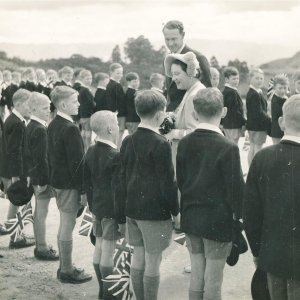 eagle school 1953 - the queen mothers visit 7
